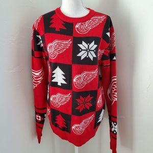 Detroit Red Wings Ugly Sweater sz S